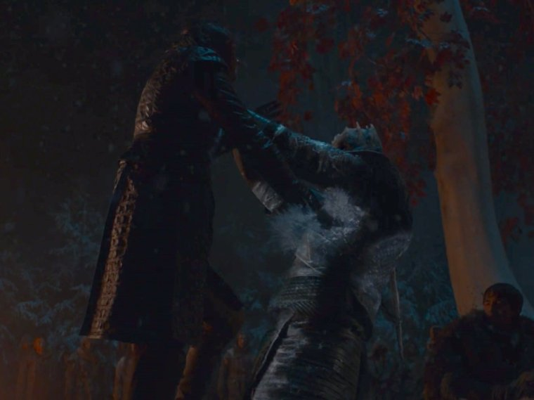 arya and night king